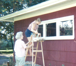 Jean Santee exterior painting at age 13